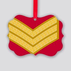 British-Army-Sergeant-Gold-Gold-S Picture Ornament