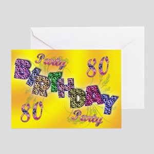 80th Birthday party invitation Greeting Card