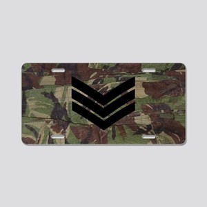 British-Army-Sergeant-Black Aluminum License Plate