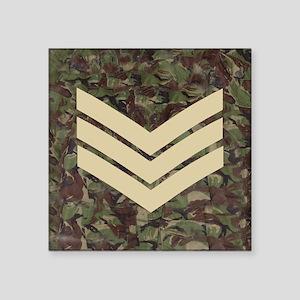"British-Army-Sergeant-Subdu Square Sticker 3"" x 3"""