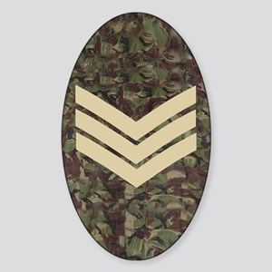 British-Army-Sergeant-Subdued-Journ Sticker (Oval)