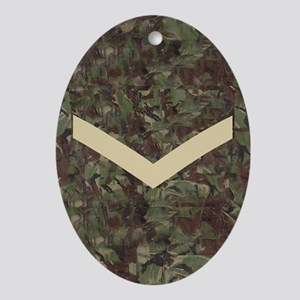 3-British-Army-Lance-Corporal-Magnet Oval Ornament