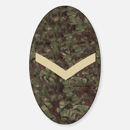 British-Army-Lance-Corporal-Journal Sticker (Oval)