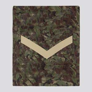 British-Army-Lance-Corporal-Journal. Throw Blanket