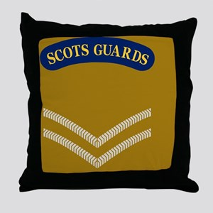 British-Army-Scots-Guards-LCpl-Tile.g Throw Pillow
