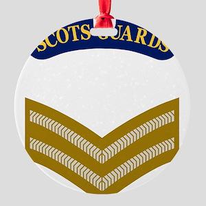 British-Army-Scots-Guards-LCPL-X.gi Round Ornament