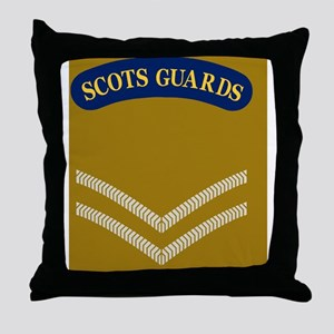 British-Army-Scots-Guards-LCpl-Mousep Throw Pillow