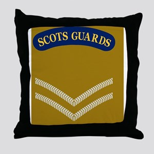 British-Army-Scots-Guards-LCpl-Journa Throw Pillow