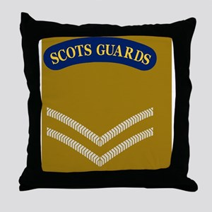 British-Army-Scots-Guards-LCpl-Sticke Throw Pillow