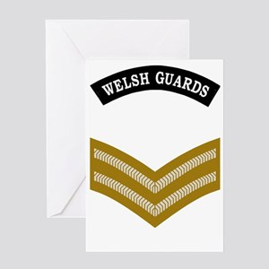 British-Army-Welsh-Guards-Lance-Corp Greeting Card