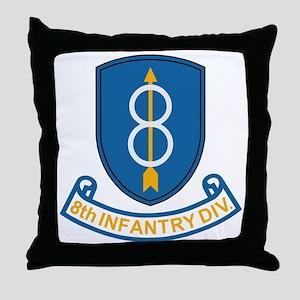 Army-8th-Infantry-Div-3-Bonnie Throw Pillow