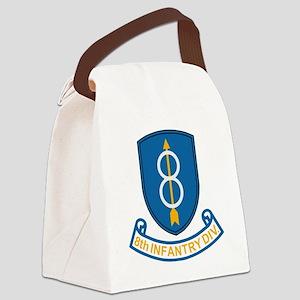 Army-8th-Infantry-Div-3-Bonnie.gi Canvas Lunch Bag