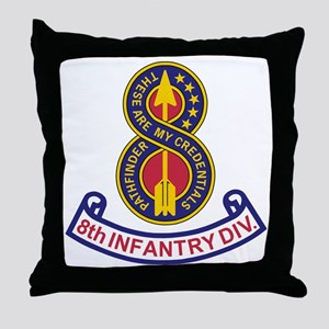 3-Army-8th-Infantry-Div-5-Bonnie Throw Pillow