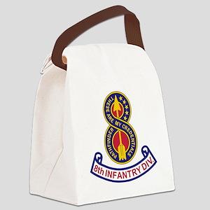 3-Army-8th-Infantry-Div-5-Bonnie. Canvas Lunch Bag