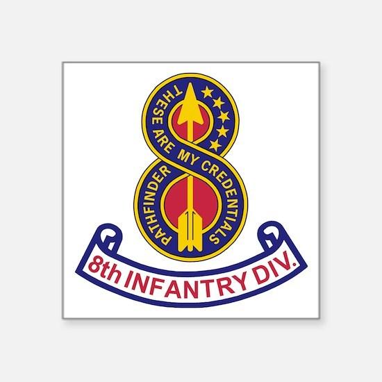 "3-Army-8th-Infantry-Div-5-B Square Sticker 3"" x 3"""
