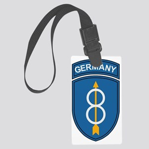 Army-8th-Infantry-Div-Germany-Bo Large Luggage Tag