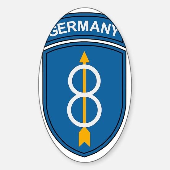 Army-8th-Infantry-Div-Germany-Bonni Sticker (Oval)