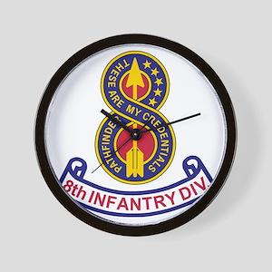 3-Army-8th-Infantry-Div-5-Bonnie Wall Clock