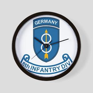 Army-8th-Infantry-Div-6-Bonnie Wall Clock