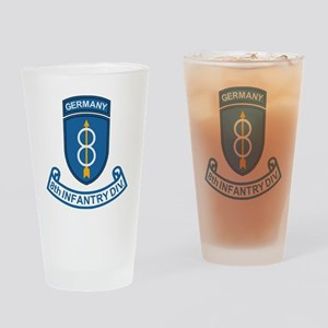 Army-8th-Infantry-Div-6-Bonnie Drinking Glass