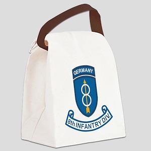 Army-8th-Infantry-Div-6-Bonnie.gi Canvas Lunch Bag
