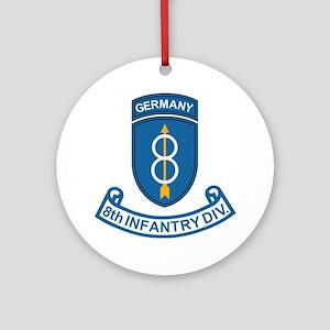 Army-8th-Infantry-Div-6-Bonnie Round Ornament