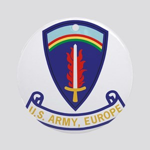 Army-US-Army-Europe-2-Bonnie Round Ornament