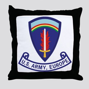 3-Army-US-Army-Europe-2-Bonnie Throw Pillow