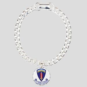 3-Army-US-Army-Europe-2- Charm Bracelet, One Charm
