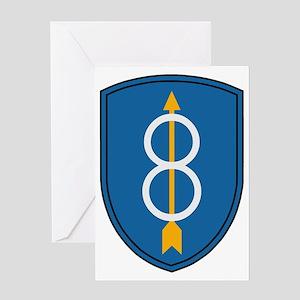 Army-8th-Infantry-Div-Dark Greeting Card