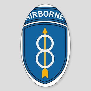 Army-8th-Infantry-Div-Dark-3 Sticker (Oval)