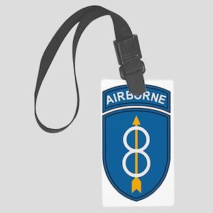 Army-8th-Infantry-Div-Dark-3 Large Luggage Tag