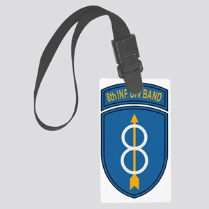 Army-8th-Infantry-Div-Band-Bonni Large Luggage Tag
