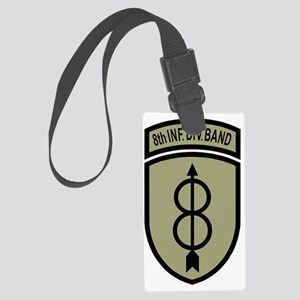 Army-8th-Infantry-Div-Band-Dark- Large Luggage Tag