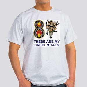 Army-8th-Infantry-Div-Humor-Credenti Light T-Shirt