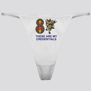 Army-8th-Infantry-Div-Humor-Credenti Classic Thong