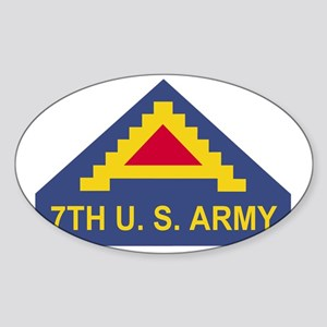 Army-7th-Army-Dark-X Sticker (Oval)