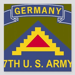 "Army-7th-Army-Journal.gi Square Car Magnet 3"" x 3"""