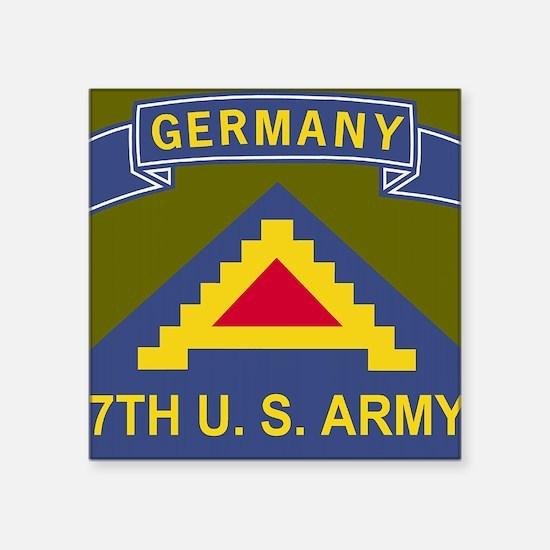 "Army-7th-Army-Journal.gif Square Sticker 3"" x 3"""