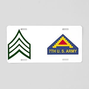 Army-7th-Army-SGT-Mug Aluminum License Plate