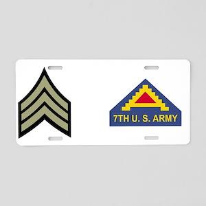 Army-7th-Army-SGT-Mug-2 Aluminum License Plate