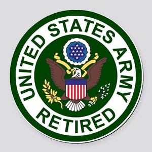 3-Army-Retired-For-Stripes-2 Round Car Magnet