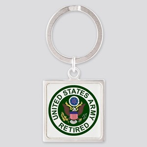 3-Army-Retired-For-Stripes-2 Square Keychain
