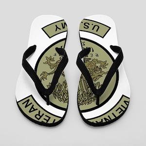 Army-Vietnam-Veteran-Subdued-Shirt Flip Flops