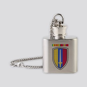 Army-USArmy-Republic-Vietnam-USARV- Flask Necklace