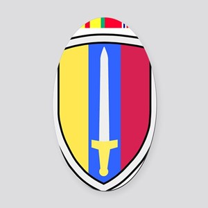 Army-USArmy-Republic-Vietnam-USARV Oval Car Magnet
