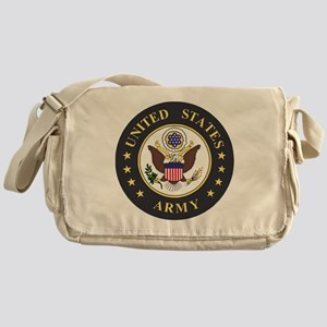 Army-Emblem-3X-Blue Messenger Bag