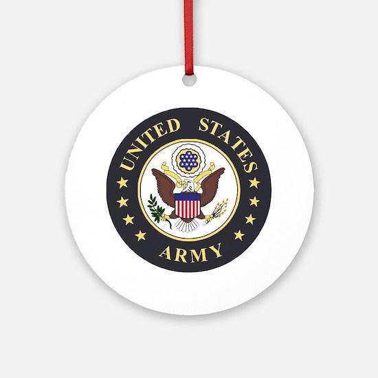 Army-Emblem-3X-Blue.gif Round Ornament