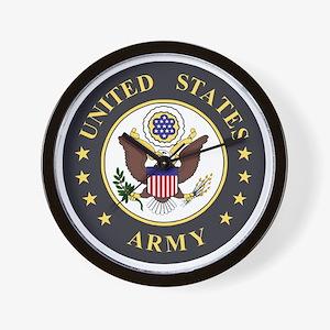 Army-Emblem-3X-Blue.gif Wall Clock