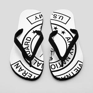 ARNG-Vietnam-Veteran-Black Flip Flops